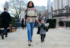 Hedwig Sagfjord Opshaug and her daughter | The 8 Best Street Style Shots of London Fashion Week