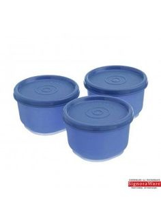 Primus Steel Round Food Container Supreme Set of 3 Pcs Kitchen