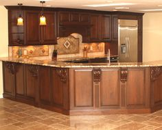 Kichen idea...like the wood with the counter tops