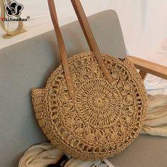 Summer Handbags, Straw Handbags, Purses And Handbags, Tote Handbags, Tote Bags, Summer Bags, Coin Purses, Woven Beach Bags, Round Straw Bag