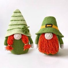 Crochet Doll Pattern, Crochet Patterns Amigurumi, Crochet Hooks, Leprechaun, Gnome Ornaments, Easter Crochet, Holiday Crochet, Stuffed Toys Patterns, Digital Pattern
