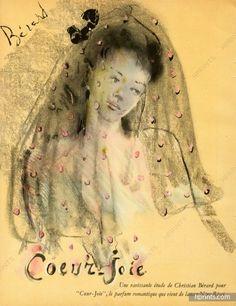 Nina Ricci (Perfumes), 1945  Christian Berard, Coeur-joie