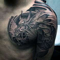 60 awesome dragon tattoo designs for men dragons for Bad ass tattoos for guys