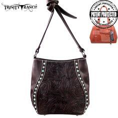 Montana West Trinity Ranch Genuine Leather Concealed Handgun Messenger – Handbag Addict.com