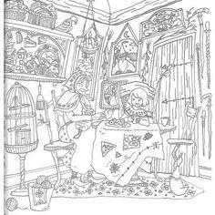 ロマンティックカントリー 大人の塗り絵 - Google 検索