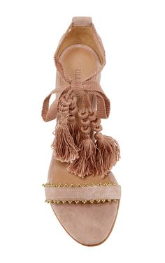 These **Ulla Johnson** Dani high heels are rendered in suede and feature tassle detailing and embellishments on the front strap