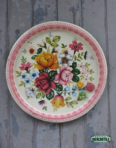 Tin Litho Floral Tray
