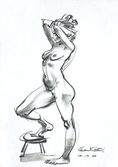 Figure drawing by GLEN KEANE