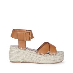 Cognac Flatform Espadrille | Audrina | Free Shipping on Orders $50+