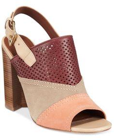 0c222a63786ac1 Cole Haan Tabby Slingback Block-Heel Mules Shoes - Sandals   Flip Flops -  Macy s