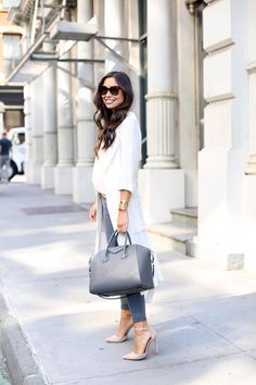 Neutrals on Wooster St. - Equipment tank // Current/Elliott jeans Cynthia Vincent trench // Schutz heels Givenchy bag // Lizzie Fortunato cuff c/o Tuesday, September 22, 2015