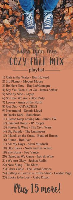 Hump Day Mixtape: Cozy Fall Tunes Need to set the mood for a day? These might help. Fall Playlist, Halloween Playlist, Song Playlist, Music Mood, Mood Songs, Pop Music, Herbst Bucket List, Song Suggestions, Autumn Aesthetic