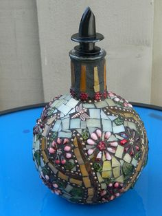 Mosaic Bottle...  used for Olive Oil...