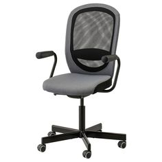 Look what I've found at IKEA - office chair Ikea Office, Office Chairs, Attic Office, Room Chairs, Dining Chairs, Seat Foam, Ikea Family, Gray, Desks