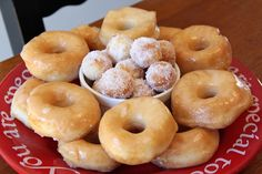 Carrie's Cooking and Recipes: Mmm Donuts! Using refrigerated biscuits!