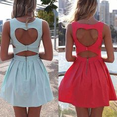 Vestido Decote coração nas costas