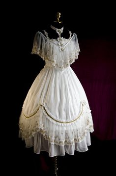 Psyche -Never Falling Star- Vintage Classic Lolita OP Dress #Leftovers