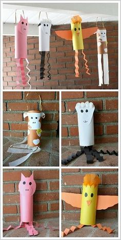 Farm Animal Crafts for Preschoolers & Kindergarteners: Cow, Sheep, Pig, and Chicken Windsocks~ BuggyandBuddy.com