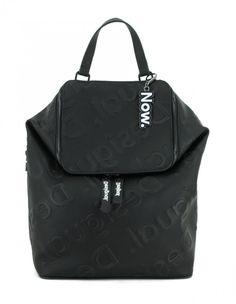 Damenrucksack Desigual Colorama Loen schwarz geprägt Positano, Nylons, Leather Backpack, Backpacks, Mini, Bags, Mickey Mouse, Positano Italy, Handbags