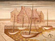 Jan Zrzavý: Přístav za odlivu (1931) Roman Catholic, Illustration, Artist, Paintings, Design, Blog, Catholic, Paint, Artists
