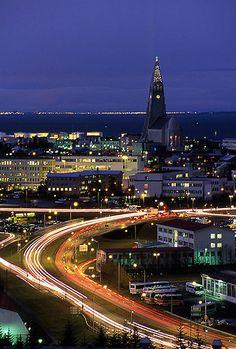 Hallgrimskirkja as viewed from 'The Pearl' ~ Reykjavik, Iceland