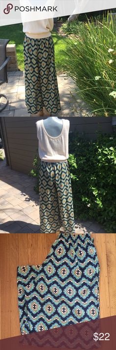 """Bar 111 Pants.  Full leg. Chic. Bar 111 chic pants with full leg to look like skirt.  So comfortable.  Stretch waist is 28"""" but can expand to give a perfect fit. Very good condition. Bar III Pants Wide Leg"""