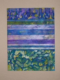 Abstract Painting Original Mixed Media Blues, purples, greens, gold by NonisEclecticShop, #painting art #painting