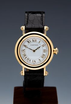 GBP 11,450 Cartier Diablo 18k Yellow Gold 34mm Mechanical Diamonds Limited Edition - Watches Catalogue - Xupes