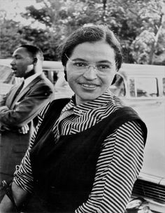 """Rosa Louise McCauley Parks was an African-American civil rights activist, whom the U.S. Congress called """"the first lady of civil rights"""", and """"the mother of the freedom movement""""."""