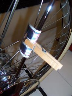 Cards + Clothes Pins = COOL bikes