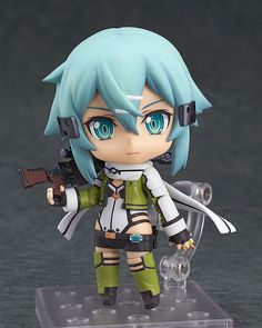 """J.G Chen Cute Nendoroid Sword Art Online II Asada shino #452 PVC Action Figure Collection Model Toy 4"""" 10CM Christmas Gifts #Affiliate"""