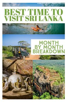 it's important to know the best time to visit Sri Lanka because while the country's southern location near the equator ensures that it enjoys warm temperatures all year round, you need to be wary of the monsoons. Different parts of the country are hit at different times of the war by prevailing monsoons that bring with them wind and rain. To help you #planyourtrip here's our month by month breakdown on the best time to visit #SriLanka #BesttimetovsitSriLanka #Travel #TravelTips #Adventure