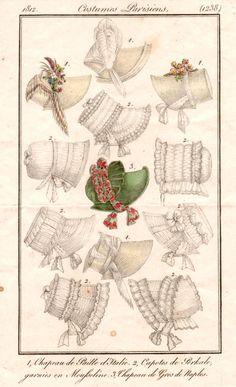 Bonnets 1812 costume parisien
