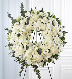 Funeral Flowers - Wreaths, Baskets, Sprays, and Tributes by Carithers Flowers Arrangements Funéraires, Funeral Floral Arrangements, Gerbera, Funeral Sprays, Memorial Flowers, Sympathy Flowers, Balloon Flowers, Flower Spray, Same Day Flower Delivery