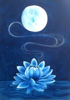 Resultado de imagen para sun and moon and lotus flower Lotus Painting, Moon Painting, Painting & Drawing, Lotus Flower Paintings, Flor Tattoo, Lotus Tattoo, Lotus Azul, Blue Lotus Flower, Lotus Flowers
