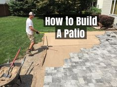 Building A Patio  EASY?!? Yes  We Show You How To Build A Cut Less (YES NO  CUTS!!) Paver Patio. How To Prepare The Foundation Soils, The Base Soils  And The ...