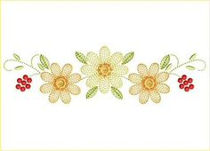 Designs By All Sorts Of Embroidery colorful spring daisies