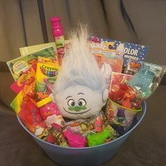 Trolls Gift Basket sold by Connie's Creations on Storenvy Kids Gift Baskets, Themed Gift Baskets, Trolls Birthday Party, 1st Birthday Gifts, Kids Toy Shop, Toys Shop, Lollipop Bouquet, Valentine Gifts For Kids, Bath And Body Works Perfume