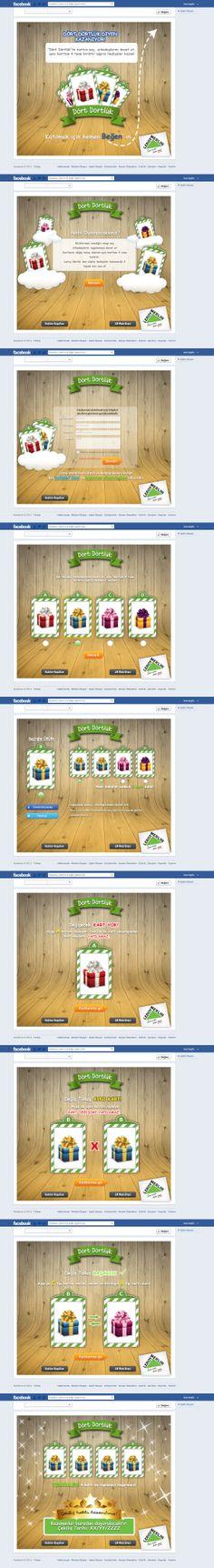 """Leroy Merlin facebook kart uygulaması. Amaç girişte ekrana gelen 4 karttan birisini seçip, geriye kalan kartları seçtiğin karta göre toplamaktı. Facebook ve Twitter' da destek wall postuyla arkadaşlar arasında kart değiş-tokuşu yapılırdı. 4 tane aynı karttan topladıktan sonra sürpriz hediye için çekilişe katılmaya hak kazanırdı.  30.12.2013 - 14.01.2014 arasında """"Leroy Merlin Facebook"""" sayfasında yayınlanmıştır.  Detaylar…"""