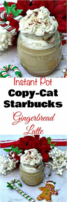 Instant Pot 100 Low-Calorie Copy-Cat Starbucks Gingerbread Latte is a quick and easy healthy pressure cooker, low-carb and reduced-sugar coffee recipe.