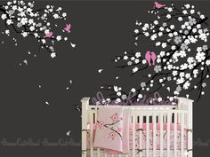 Hey, I found this really awesome Etsy listing at https://www.etsy.com/listing/152437077/wall-decals-cherry-blossom-tree-wall