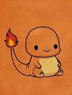 Pokemon - Charmander by ~beyx on deviantart. Not really into Pokemon, but man, is he a little cutey :D Michelle: i have no board for him to go so. Poke Pokemon, Pokemon Fan, Kawaii Drawings, Cute Drawings, Pokemon Charmander, Charizard, Cute Pokemon Wallpaper, Pokemon Pictures, Catch Em All
