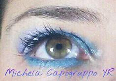 Make up azzurro e viola!