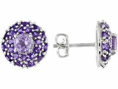 2.76ctw Rose De France Amethyst earrings CHRISTMAS http://stores.ebay.com/JEWELRY-AND-GIFTS-BY-ALICE-AND-ANN