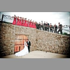 love the bridal party up top!