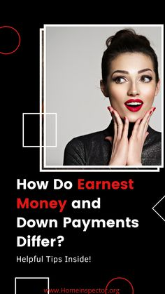 Down Payment vs Earnest Money: How Do They Differ Real Estate Articles, Real Estate Information, Real Estate Tips, Home Selling Tips, Home Buying Tips, Down Payment, Mortgage Tips, First Time Home Buyers, Finance Tips
