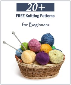 20+ FREE Knitting Patterns for Beginners #knittng #knittingPatterns