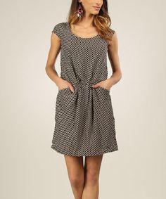 Love this Black & Off-White Cross-Back  Dress on #zulily! #zulilyfinds
