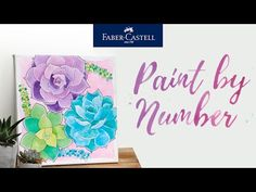 """Faber-Castell Watercolor Paint by Number's are a great way to relax, unwind and stay entertained while at home! With the Bold Floral Watercolor Paint by Number you will use vibrant watercolor paint and a separate number painting guide to recreate what you see on the box or paint your own unique art. This number painting kit comes with comes with 9 custom colors of vibrant watercolor paint, 12""""x12"""" pre-printed stretched gallery canvas, a fine point paintbrush and a separate paint number guide. Watercolor Projects, Watercolor Canvas, Watercolor Pencils, Floral Watercolor, Watercolors, Point Paint, Art Sets For Kids, Painting Activities, Faber Castell"""