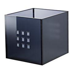IKEA - LEKMAN, Caja, gris oscuro, , Ideal para guardar de todo, desde periódicos hasta ropa.Los protectores de fieltro de la parte inferior protegen la superficie de los arañazos.